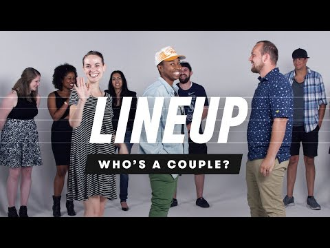 People Guess Who's a Couple from a Group of Strangers | Lineup | Cut