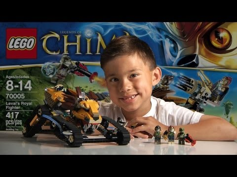 LAVAL'S ROYAL FIGHTER – LEGO Legends of Chima Set 70005- Time-lapse Build, Unboxing & Review