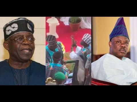 SEE HOW TINUBU, AMOSUN EXCHANGED HOT WORDS AT OGUN PRESIDENTIAL RALLY