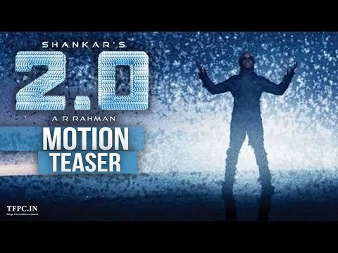 2.0 First Motion Poster - Rajinikanth, Shankar