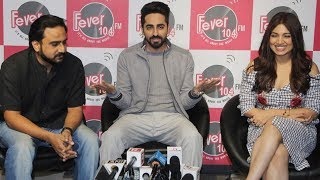 Shubh Mangal Saavdhan Promotion at Radio Station Fever 107 FM.Click this below link and subscribe to our channel to get all updates on Bollywood Movies, and your favorite Bollywood actresses and actors.http://goo.gl/cfijvC