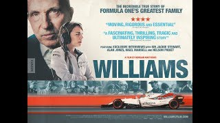 WILLIAMS is In cinemas & Curzon Home Cinema from 4 August & Out on DVD, Blu-ray & on demand from 14 August 2017.WILLIAMS charts the story of Formula One's most celebrated family, Williams is a thrilling account of how one man built a racing empire and a vivid, heart-rending portrait of the aftermath of a tragedy.   Starting life with nothing other than a single-minded obsession for speed, Sir Frank Williams created one of the world's most enduring Formula One racing teams, winning nine Constructors' Championships over the last 40 years. But in 1986 at the height of this success, a near fatal car accident left Frank fighting to survive and the team's future hanging in the balance.   Williams, a brand-new documentary from BAFTA-wining director Morgan Matthews, tells the story of Frank's rise to fame and how his family battled to keep him alive and the team afloat after the crash that left Frank wheelchair-bound for the rest of his life. Featuring heart-pounding racing footage, interviews with much-loved Formula One stars (including Sir Jackie Stewart, Nigel Mansell, Alan Jones and Sir Patrick Head) and candid never-before-seen accounts of what really went on behind closed doors, it is an honest, authentic and incredibly revealing portrait of one of the most extraordinary families in motorsport. Read more at https://www.curzonartificialeye.com/williams#z5dXd2Kf8wZag2C1.99