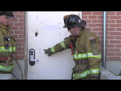 How firefighters dismantle a steel door