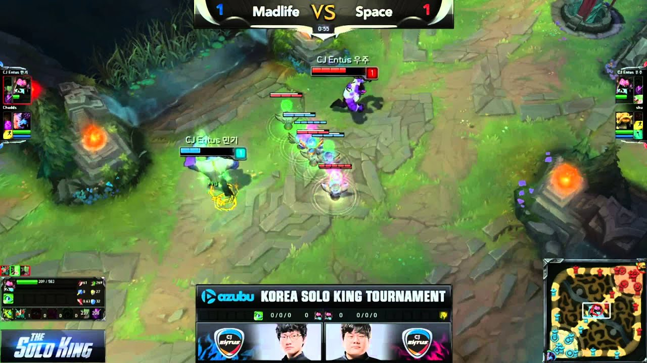 LMHT: Madlife thi phi đao tại The Solo King 1v1 Hàn Quốc