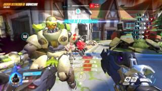 Reaper last second team kill (enemy dva made it posible)