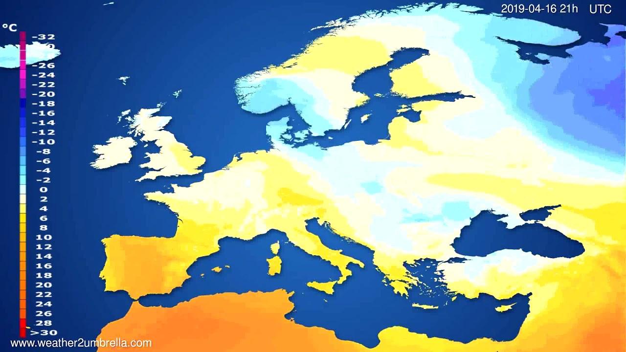 Temperature forecast Europe // modelrun: 12h UTC 2019-04-14