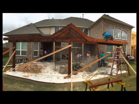 Custom Designed Patio Cover and Outdoor Living Area in Frisco, TX.