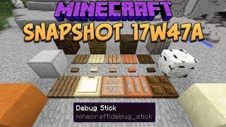 Minecraft 1.13 Snapshot 17w47a New Creative Blocks, Trapdoors, Buttons & Debug Stick!