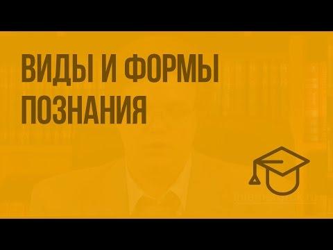 Виды и формы познания (видео)