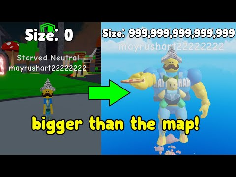 Becoming The Biggest Player In Thick Legends! Bigger Than The Map! Roblox