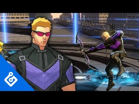 Gameplay Hawkeye  de Marvel Ultimate Alliance 3: The Black Order