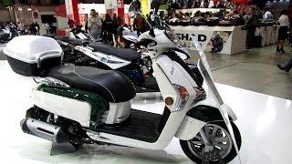 9. 2014 Kymco Like 200i Scooter Walkaround - 2013 EICMA Milano Motorcycle Exhibition