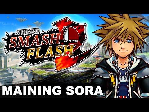 Playing As Sora - Super Smash Flash 2