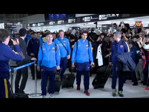 FC Barcelona arrival in Japan