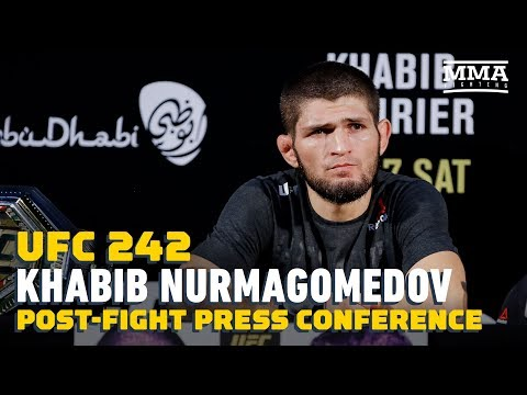 UFC 242: Khabib Nurmagomedov Post-Fight Press Conference - MMA Fighting