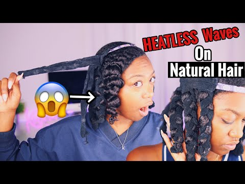 New hairstyle - Octocurl HEATLESS Waves on Natural Hair?!??  SHOOK AF SIS!!!!