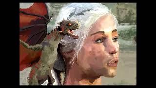Game of Thrones- Daenerys Targaryen speed painting portrait-(khaleesi) from the HBO series. How to draw Daenerys Targaryen:...