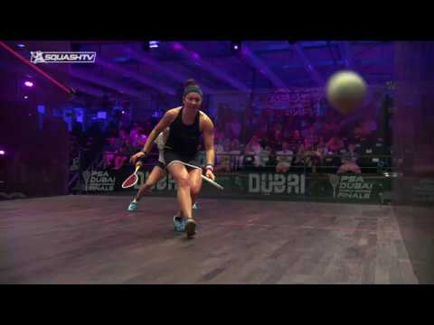 Squash tips: Playing in hot court conditions - Hitting different parts of the ball