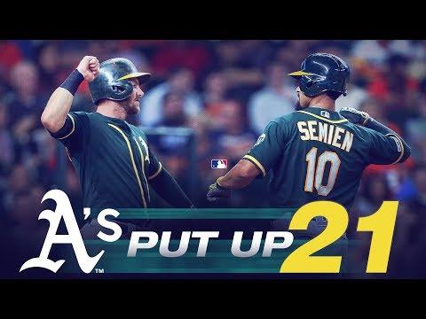 Video: A's put up 21 runs