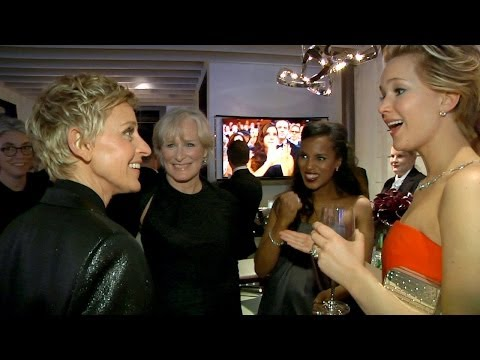 scenes - Ellen hosted the most viewed Oscars in recent history, and she brought her cameras with her everywhere she went! Check out her exclusive behind-the-scenes jo...