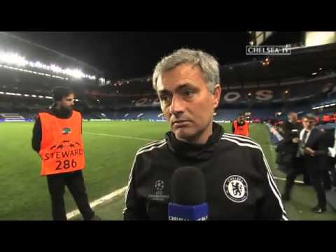 Zaltan Ibrahimovic wishes Mourinho 'Good Luck' in the Champions League 2014 3   YouTube1