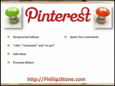 Phil Stone Training Pinterest Marketing