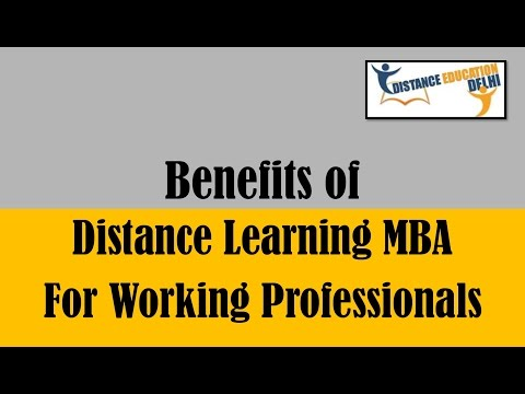 Benefits of distance learning MBA for working professionals