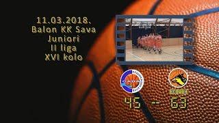 kk sava kk astra 45 63 (juniori, 11 03 2018 ) košarkaški klub sava