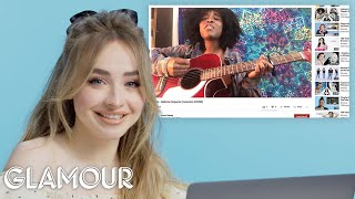 Video Sabrina Carpenter Watches Fan Covers on YouTube | Glamour MP3, 3GP, MP4, WEBM, AVI, FLV September 2019