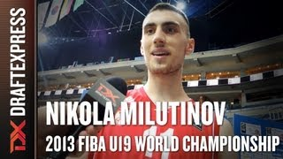 Nikola Milutinov Interview at the 2013 FIBA U19 World Championship in Prague