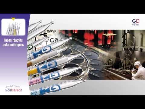 Tubes réactifs colorimétriques - GazDetect