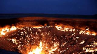 The Derweze area is rich in natural gas. While drilling in 1971 geologists accidentally found an underground cavern filled with...