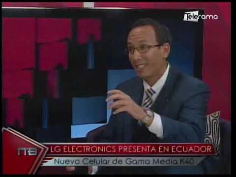 LG Electronics presenta en Ecuador nuevo celular de Gama Media K40
