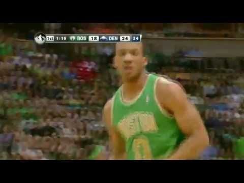 Avery Bradley Slams it Off Nuggets Turnover - Nuggets vs. Celtics