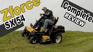 1. Cub Cadet steering wheel zero turn review - Zforce SX 54