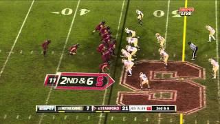 Jonathan Martin vs Notre Dame 2011