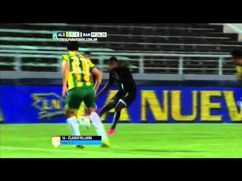 Gol de Villagra. Aldosivi 1 – Banfield 1. Final Liguilla Pre Sudamericana 2015