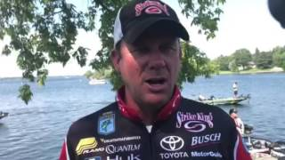 On the first day of the Huk Bassmaster Elite at St. Lawrence presented by Go RVing Kevin VanDam was surprised to see his bag...