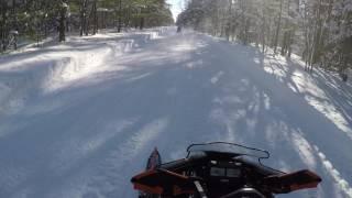 7. Yamaha Sidewinder groomed trails in Munising