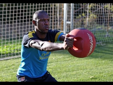 Eric Abidal de retour  lentrainement