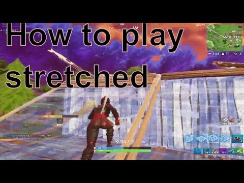 How to play stretched in Fortnite ( Custom Resolution ) [PC ONLY]