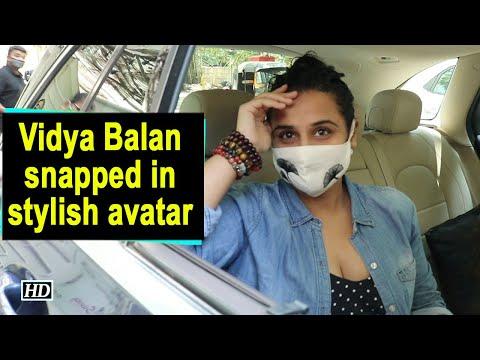 Vidya Balan snapped in stylish avatar