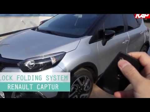 Renault Captur side mirror lock folding
