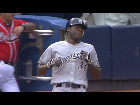 Video: Cain records his first Major League hit