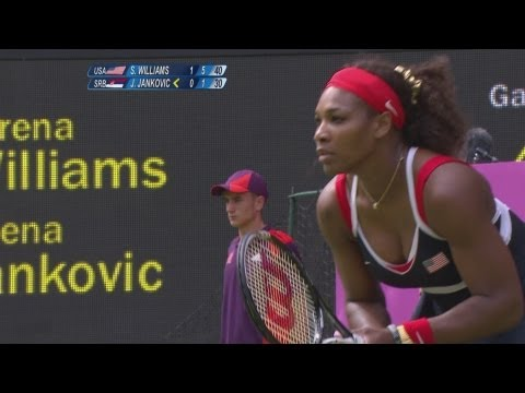 Tennis Women's Singles First Round – S Williams (USA) v J Jankovic (SRB)- London 2012 Olympic Games