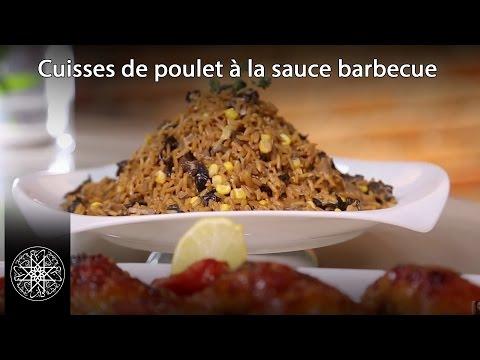 Cuisses de poulet à la sauce barbecue