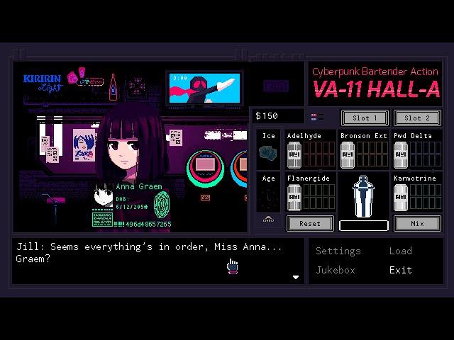 Видео к игре VA-11 Hall-A Cyberpunk Bartender Action