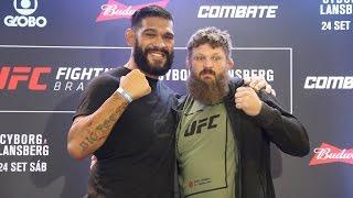 UFC Fight Night 95 Media Day Staredowns by MMA Fighting