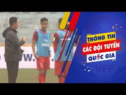 ĐT U22 Việt Nam có buổi tập tại SVĐ Hàng Đẫy trước trận giao hữu với Ulsan Hyundai