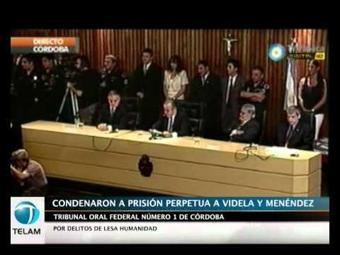 Córdoba: prisión perpetua para los represores Videla y Menéndez por delitos de lesa humanidad